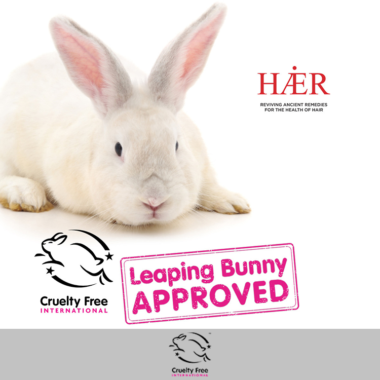 HAER is approved under The Leaping Bunny Programme by Cruelty Free International, the international gold standard for cruelty free products.
